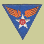 12th Army Air Forces WW2 Patch
